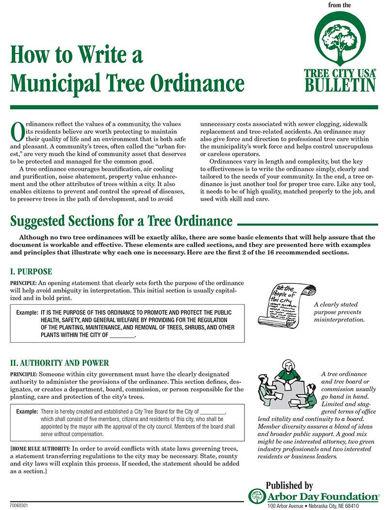#9: How to Write a Municipal Tree Ordinance