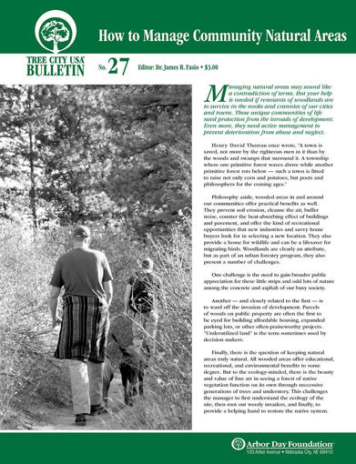 #27: How to Manage Community Natural Areas