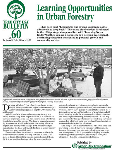 #60: Learning Opportunities in Urban Forestry
