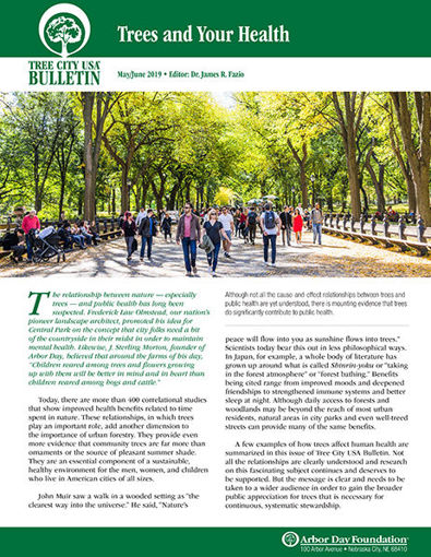 Picture of FTC Bulletin May/June 2019: Trees and Your Health