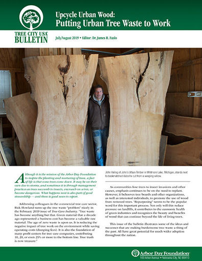 Picture of FTC Bulletin July/August 2019: Upcycle Urban Wood