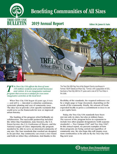 Picture of Friends of Tree City USA Bulletin: 2019 Annual Report