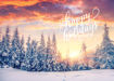 Picture of Happy Holidays Snowy Landscape