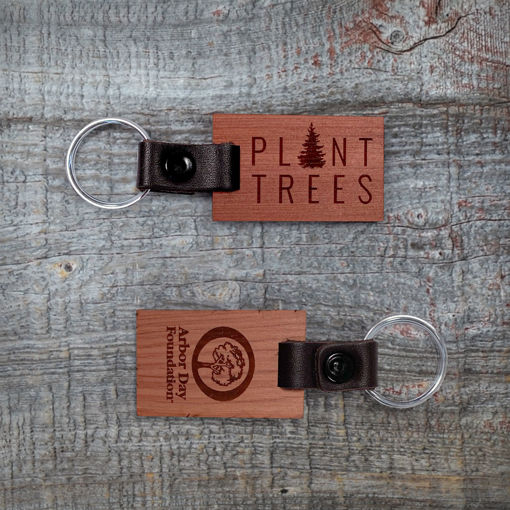 Picture of Plant Trees Wood Keychain