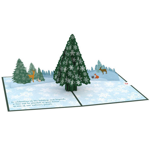 Picture of Happy Holidays Forest Creatures Pop Up Card
