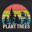 Picture of Striped Sunset Plant Trees T-Shirt