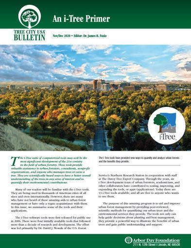 Picture of FTC Bulletin Nov/Dec 2020: An i-Tree Primer