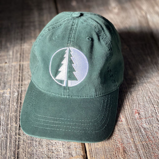 Picture of Dark Green Geometric Tree Hat