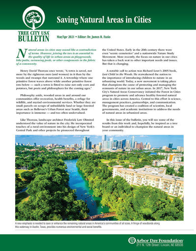 Picture of FTC Bulletin Mar-Apr 2021: Saving Natural Areas in Cities
