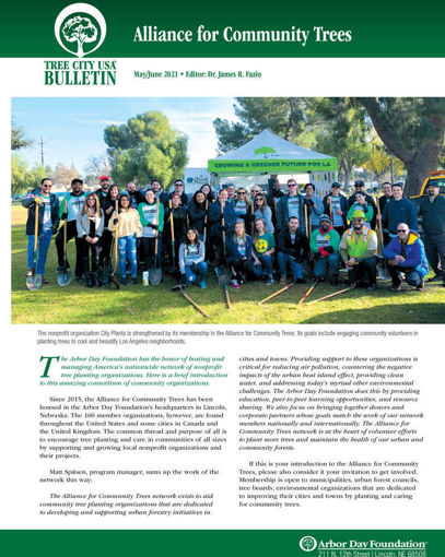 Picture of FTC Bulletin May-June 2021: Alliance for Community Trees